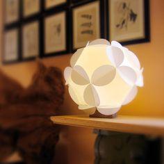 Lampe boule origami