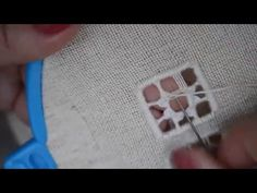 Hardanger Lesson, extra help with starting and ending blanket stitch. - YouTube