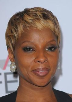 The pixie is one of the hottest hairstyles of the moment. See which cuts are most popular and which face shapes and hair textures work with a pixie.: Mary J. Blige Pixie Hair