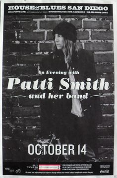 patti smith gig poster