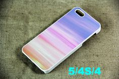 Pink and Blue iPhone 5 Case,Hard Plastic Case and Rubber Case