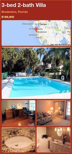 3-bed 2-bath Villa in Bradenton, Florida ►$186,900 #PropertyForSale #RealEstate #Florida http://florida-magic.com/properties/87491-villa-for-sale-in-bradenton-florida-with-3-bedroom-2-bathroom