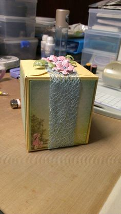 Perfect box for a little girl, made using heartfelt creations sweet lullaby collection.