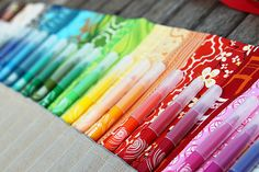 rainbow pencil roll. i adore the colors.