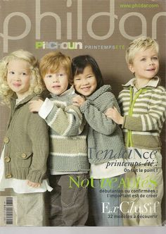 Modèles 13 et 24 entre autres phildar n°13 - veronique-tricote - Picasa Webalbumok Vogue Knitting, Knitting Books, Knitting For Kids, Baby Knitting Patterns, Lace Knitting, Knitting Designs, Baby Patterns, Knitting Magazine, Crochet Magazine
