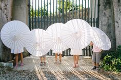 See More White Parasol Wedding Inspiration. Collection Of Images Of Lace Paper Parasols At Weddings. Wedding Poses, Wedding Bride, Wedding Ceremony, Wedding Day, Wedding Dresses, Lace Parasol, Umbrella Wedding, Bridesmaid Outfit, Amazing Weddings