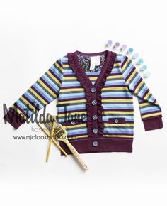 Paint by Numbers - Fall 2013 - Mjc LookBooks - PLUM KITTEN CARDIGAN (RV $48-50) 12M-14 ~ Paint By Numbers Fall 2013