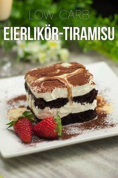 Schoko-Eierlikör-Tiramisu – Low-Carb The Eggnog Tiramisu is low carb, gluten free, sugar free and just tastes fantastic! Healthy Low Carb Snacks, Low Carb Lunch, Low Carb Desserts, Paleo Dessert, Law Carb, Snack Recipes, Dessert Recipes, Brunch Recipes, Keto Recipes