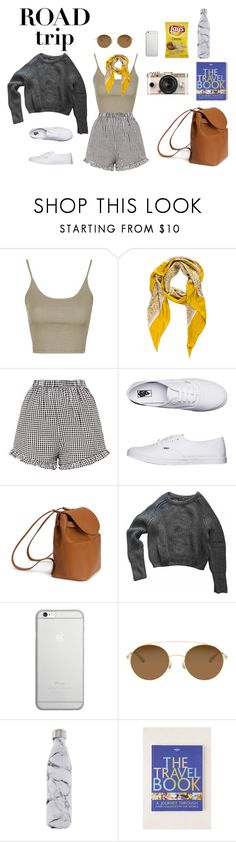 """Untitled #32"" by h-tait ❤ liked on Polyvore featuring Topshop, Loro Piana, Vans, American Apparel, Native Union, Mykita, S'well and Lonely Planet"