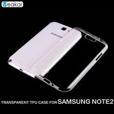 Transparent Soft TPU Silicon sfor SAMSUNG Galaxy Note 2 Case For Samsung Galaxy Note 2 Note2 N7100 Cell Phone back Cover Case