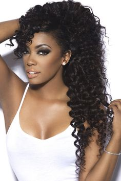 achieve this style with our Peruvian curly.  email us at: hairbyember@gmail.com