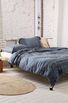 Magical Thinking Esrin Block Print Flannel Duvet Cover $119 — $169