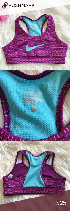NEW Nike Pro Dri Fit purple and blue sports bra ✨ New without tags, size medium! Armpit to armpit 13.5 inches Nike Intimates & Sleepwear Bras