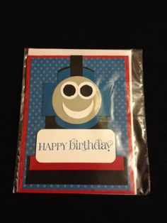 Homemade Card - Birthday Card - Greeting Card - Thomas the Train - Stampin Up Card. $3.00, via Etsy.