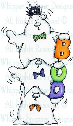 Boo Ghosts - Halloween Images - Halloween - Rubber Stamps - Shop  (321 x 550)