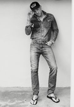 The Sexiest Outtakes from Charlie Hunnam's InStyle Shoot - Denim Duo from InStyle.com