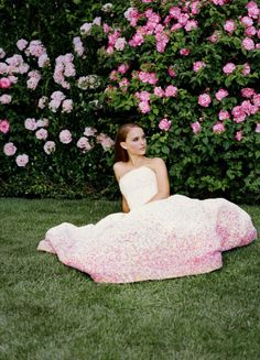 Natalie Portman in Dior F12 couture, lives La vie en rose in the new Miss Dior ad