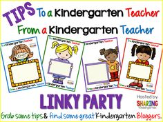New to K or doing K all over again? Check out this Link made especially with our little learners in mind... To a Kindergarten teacher, From a Kindergarten teacher