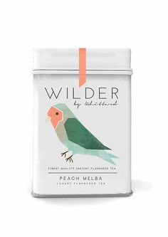 Wilder | flavoured #tea #packaging, i like this application of simple and minimal illustration low poly style. Ivan Giorgetti