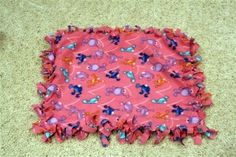 I've made a ton of these blankets. So easy, and I sleep with mine every night!