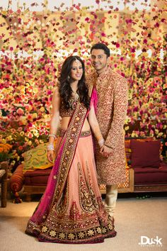 Looking for Floral backdrop with indian bride and groom? Browse of latest bridal photos, lehenga & jewelry designs, decor ideas, etc. on WedMeGood Gallery. Indian Wedding Couple, Indian Bridal, Wedding Couples, Indian Bride And Groom, Bride Groom, Indian Dresses, Indian Outfits, Mehendi Outfits, Sherwani For Men Wedding