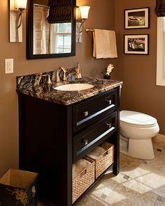 Powder Room Design, Pictures, Remodel, Decor and Ideas - page 19 brown n black