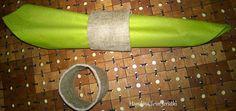 Handmade in Jerutki: Lniane pierścienie na serwetki / Napkin rings