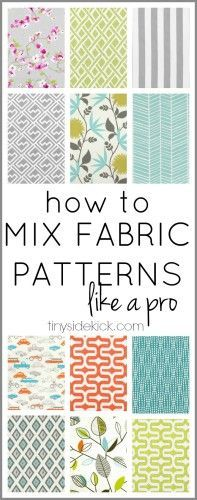 Sewing Quilts This is so much easier than I thought! Just a few easy steps to mixing patterns. It's going to help so much when it comes to adding interest to my home xxxdecor. Quilting Tips, Quilting Tutorials, Sewing Tutorials, Quilting Fabric, Quilting Projects, Techniques Couture, Sewing Techniques, Fabric Patterns, Sewing Patterns