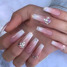✨ Formal Glam ✨ Those nail beds tho! #glamourchicbeauty #glamourchic #gcnails #goldcoastnails #nails #frenchombre #blingnails #swarovskinails #naildesign #babyboomers #longnails #nailart #nailartclub #nailartoohlala #nailsoftheday #nailsofinstagram #nailswag #nailsmagazine #nailprodigy #nailpro #nailporn #nailpromag #nailedit #nailit #nailitmag #nailfashion #swan_nails #thenaillife_ #hudabeauty #vegas_nay