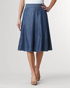Tencel® flare skirt - [K24190]