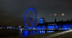 LONDRA 2012 : London Eye di notte