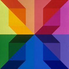 Rainbow pattern square