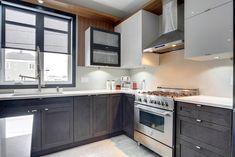 Miro Cuisines Tendances - Projet 02 Miro, Kitchen Cabinets, Home Decor, Modern Kitchens, Trends, Decoration Home, Room Decor, Cabinets, Home Interior Design