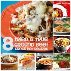 8 Tried & True Ground Beef Crock Pot Recipes #Crockpot