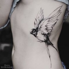 Swallow side tattoo - 100  Lovely Swallow Tattoos  <3 <3