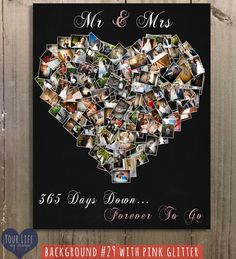First Anniversary Gift Photo Collage by YourLifeMyDesign on Etsy