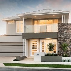 Balcony Homes - Home Decor House Front Design, Modern House Design, Style At Home, 4 Bedroom House Designs, Bungalow Haus Design, House Elevation, Modern House Plans, Story House, Facade House