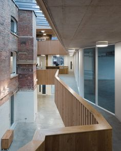 Old London shoe-polish factory transformed into charity offices by Architecture 00 - Social Justice Centre in Vauxhall Factory Architecture, London Architecture, Architecture Awards, Roof Architecture, Old London, South London, Conservation Architecture, Atrium Design, Foyer Design