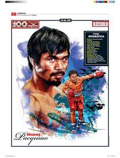 Manny Pacquiao 100 Leyendas del Deporte / 100 Sports Legends by Jesús R. Sánchez, via Behance