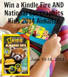 Hold on to your hat... National Geographic Kids 2014 Almanac AND Kindle Fire Giveaway! exp 6/14/13. #NationalGeo #Almanac #KindleFire #Giveaway