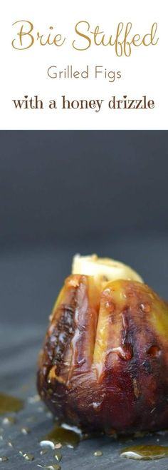 These grilled brie stuffed figs with a honey drizzle are an incredible appetizer that guests can't get enough of. So easy to make, these are a popular party food! via @fearlessdining