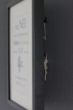 HVOR ER? Det var mannen min som mente at han måtte ha et nøkkelskap dersom han skulle klare å holde orden på nøklene sine. FOTO: Stina Andersen / Fru Andersen