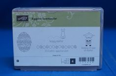 Stampin' Up! Eggstra Spectacular Happy Easter Egg Bunny Ewe Set of 4 Stamps NIB #StampinUp