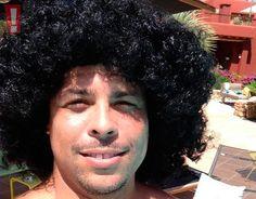 Ronaldo posa com cabelo black power: 'Meu sonho era ter um cabelo assim!'