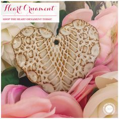 Our handcrafted Heart Ceramic Ornaments are perfect for wedding and shower gifts. Monica Potter Home, Heart Ornament, Rustic Charm, Shower Gifts, Apples, Gingerbread, Cookie, Delicate, Decorations