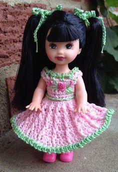 "Crochet Doll Clothes for 4 ½"" Kelly Same Sized Dolls | eBay"