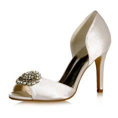 6aaa69b14458 Amazon.com  Fashionmore Women s Satin Open Toe High Heel Pumps Purple 4.5  US