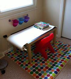 стол с рулоном для рисования