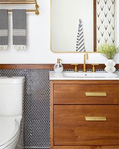 Like the feeling of this bathroom but don't want penny tile on the walls.