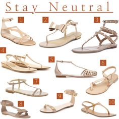 In my personal opinion, every girl needs a pair of nude flat sandals. They are super comfortable and go with anything! Stay neutral, y'all! {1} Barneys New York Bottega Veneta Stylized Closed Back Sandal, $620 {2} Dorothy Perkins Nude Bow Flat Sandal, $49 {3} Valentino Rockstud Gladiator Sandal T.05, $845 …